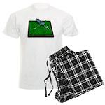 Golf Clubs Bag on Grass Men's Light Pajamas