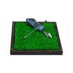 Golf Clubs Bag on Grass 38.5 x 24.5 Wall Peel