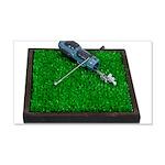 Golf Clubs Bag on Grass 22x14 Wall Peel