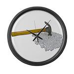 Hammer Broken Glass Large Wall Clock