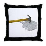 Hammer Broken Glass Throw Pillow