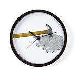 Hammer Broken Glass Wall Clock