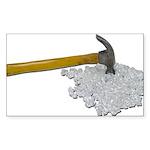 Hammer Broken Glass Sticker (Rectangle 50 pk)
