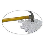 Hammer Broken Glass Sticker (Oval 50 pk)