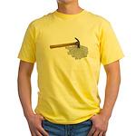 Hammer Broken Glass Yellow T-Shirt