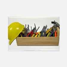 Hardhat Long Wooden Toolbox Rectangle Magnet