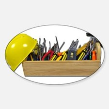 Hardhat Long Wooden Toolbox Decal
