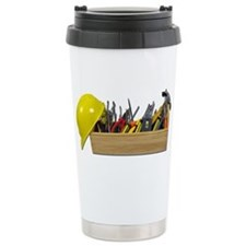 Hardhat Long Wooden Toolbox Travel Mug