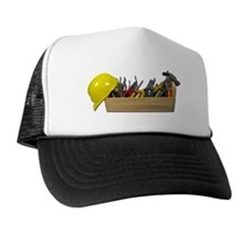 Hardhat Long Wooden Toolbox Trucker Hat