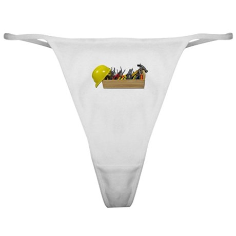 Hardhat Long Wooden Toolbox Classic Thong