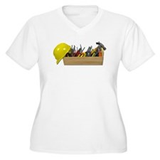 Hardhat Long Wooden Toolbox T-Shirt