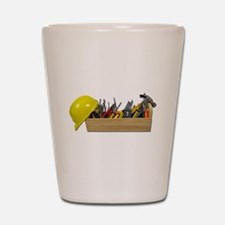 Hardhat Long Wooden Toolbox Shot Glass