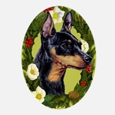 Miniature Pinscher Ornament (Oval)