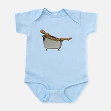 Leaned Back Bathtub Infant Bodysuit