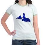 Megaphone Pom Poms Jr. Ringer T-Shirt