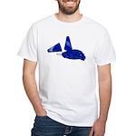 Megaphone Pom Poms White T-Shirt