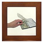 Money Checkbook Framed Tile