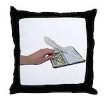 Money Checkbook Throw Pillow