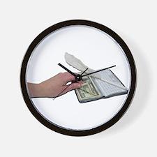 Money Checkbook Wall Clock