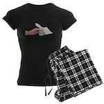 Money Checkbook Women's Dark Pajamas
