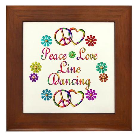 Love Line Dancing Framed Tile