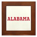 Crimson Alabama Framed Tile