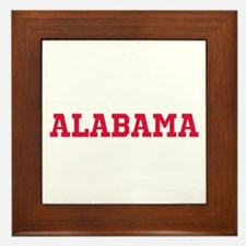 Crimson Alabama Framed Tile