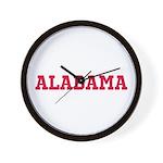 Crimson Alabama Wall Clock