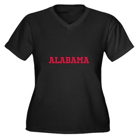 Crimson Alabama Women's Plus Size V-Neck Dark T-Sh