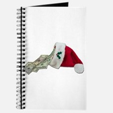 Money Pouring Santa Hat Journal