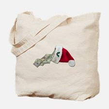 Money Pouring Santa Hat Tote Bag