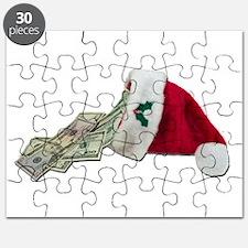 Money Pouring Santa Hat Puzzle