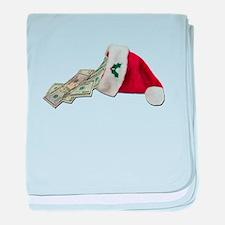 Money Pouring Santa Hat baby blanket