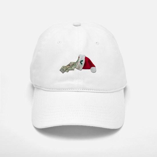 Money Pouring Santa Hat Baseball Baseball Cap