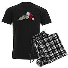 Money Pouring Santa Hat Pajamas