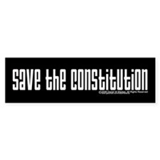 Save The Constitution Bumper Car Sticker