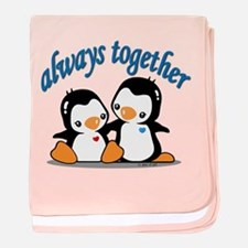 Cute Penguins baby blanket