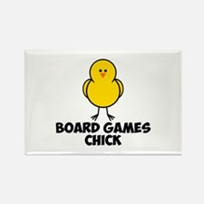 Board Games Chick Rectangle Magnet