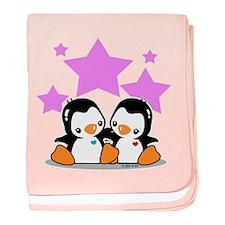 Cute Penguins baby blanket