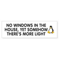 No windows Bumper Sticker