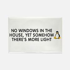 No windows Rectangle Magnet