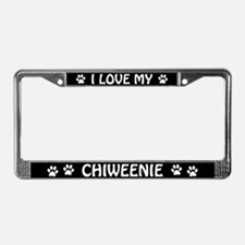 I Love My Chiweenie License Plate Frame