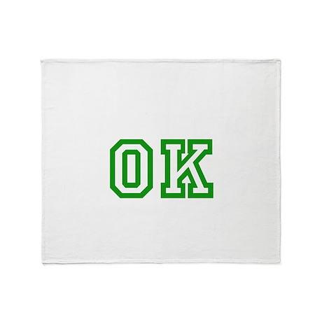 green OK Throw Blanket