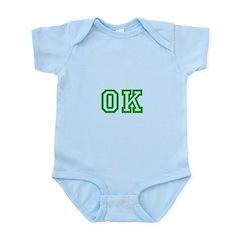 green OK Infant Bodysuit