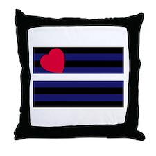 Leather Pride Flag Throw Pillow