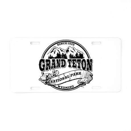 Grand Teton Old Circle Aluminum License Plate