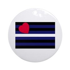 Leather Pride Flag Ornament (Round)