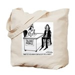 Vampire Has Mixed Blood Type Tote Bag