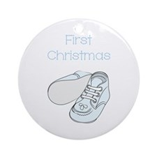 1st CHRISTMAS Ornament (Round)