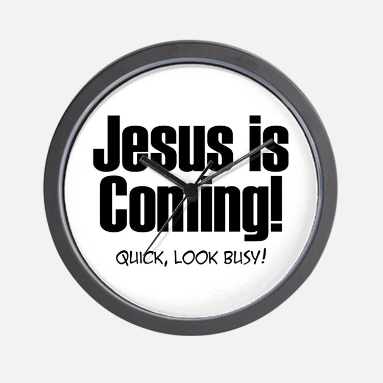 Jesus is Coming! Wall Clock